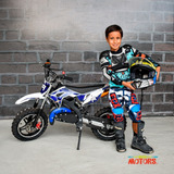 Mini Moto Mini Cross Para Niños 50cc A Gasolina