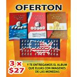 3 Álbum Coleccionador Monedas De Usa 25