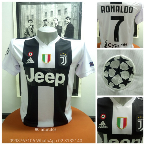Camiseta Juventus Juve Cristiano Ronaldo Cr7 Champions Leagu 3c5d45a45eabe