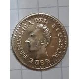 Moneda Antigua-oro-1/5 De Libra-1899-ecuador-raro Token