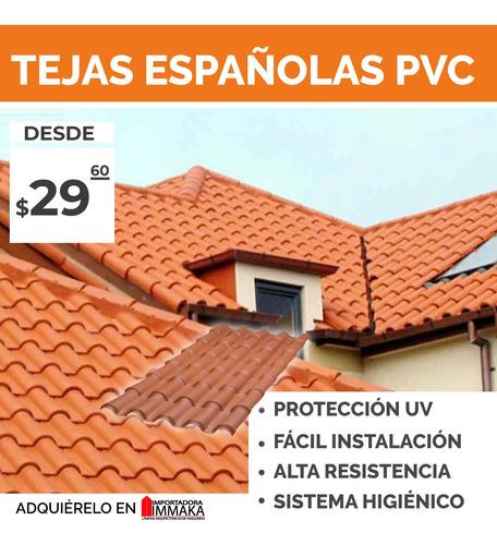 Tejas Españolas En Pvc, Techos Coloniales Con Protección Uv