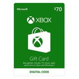 Xbox Live Gifcard $70 Codigo Digital Region Usa