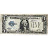 Eeuu, Antiguo Billete Sello Azul, Un Dólar 1.928