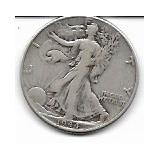 Eeuu, Antigua Moneda De Plata Ley 0,900 Half Dolar 1.944