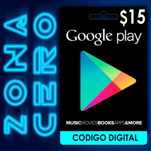 Tarjeta Google Play Store Android De $15