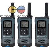 Motorola 3 Radios T200 Tp 32km Walkie Talkie Recargable