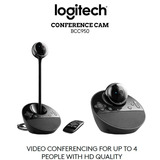 Cámara Web Logitech / Webcam Logitech Bcc950 Full Hd 1080p