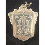 Medalla Antigua De Plata Recuerdo De Bautizo De 1905