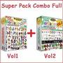 Super Pack Combo Full Bordados Pes Jef Jus Dst Vol1 + Vol2
