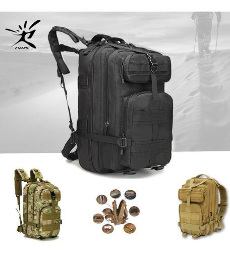 Mochila Táctica Camping Impermeable Militar 30l Laptop