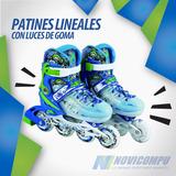 Patines Lineales Con Luces De Goma, Varios Colores Y Tallas