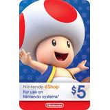 Tarjetas Nintendo Eshop $5