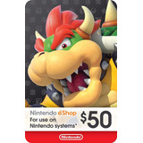Tarjetas Nintendo Eshop $50