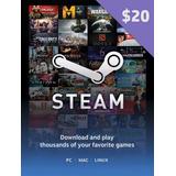 Tarjeta De Recarga Para Steam 20 Usd - Juegos Pc - Forest