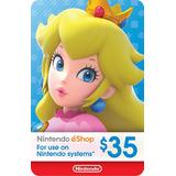 Nintendo Eshop Gift Card $35 / Switch 3ds Wii U
