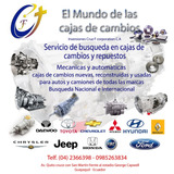 Busqueda Y Venta Cajas De Cambio Automáticas Mecánica