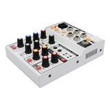Consola Mezcladora Audio 4 Canales Usb Xlr Phantom Power 48v