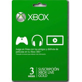 Código Digital Canjeable Xbox Live Gold 3 Meses Envio Rápid