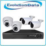 Kit Completo 4 Camaras Seguridad Sistema Dvr Cctv Vigilancia