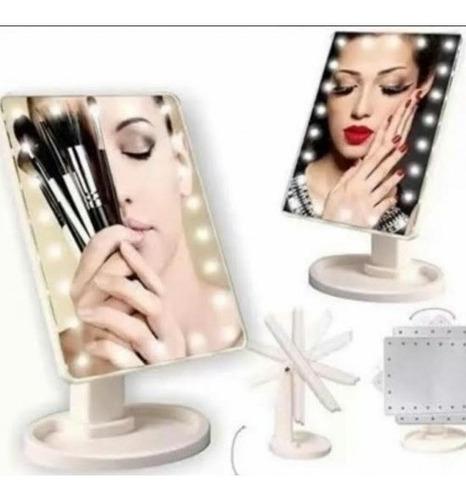 Espejo Led Inalambrico Cosmetico Make Up Con Luces Led