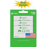 Tarjetas De Recarga Xbox Gift Card - Xbox Live $30