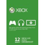 Xbox Live Gold 12 Meses Ofertazo