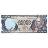 Billete De Reposicion! 20000 Sucres 2 Junio 1997 Serie Ff