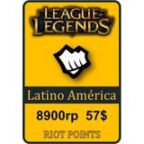 Tarjeta De Recarga De League Of Legends - 8900 Riot Points