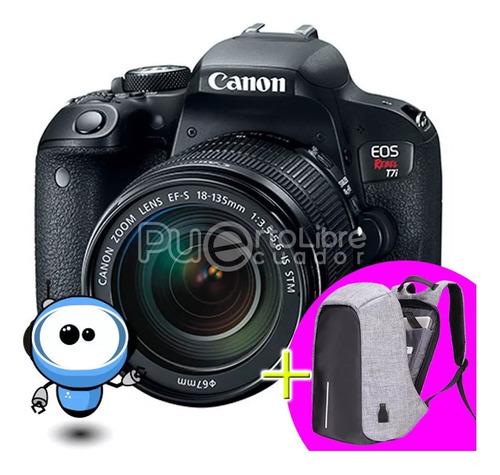 Canon T7i + G R A T I S + Lente + Tripode + Maleta + 128gb!