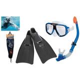 Equipo De Buseo Gafas Y Snorquer Buso Nataciona Aletas