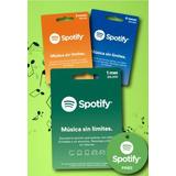 Gift Card Spotify Premium 1 Mes Envio Gratis Mp3 Hd