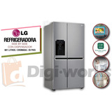Lg Refrigeradora Cromada Inverter Con Dispensador Inc Iva