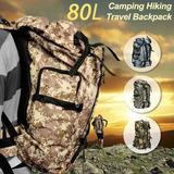 Mochila De Camping Impermiable Montañismo Reforzada 80litros