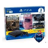 Playstation Ps4 Slim 1tb 3 Juegos Fisicos Nuevas Selladas