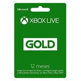 Tarjeta Xbox Live Gold Subscripción 12 Meses