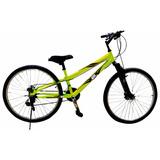 Bicicleta Gti Suspensión Fluorescente Aro 26 Incluido Iva