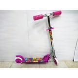 Monopatín Scooter Max Toys 2 Ruedas Niño Niña Plegable Luces