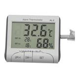 Termohigrometro Al-2 Mide  Con Alarma De Temperatura