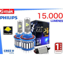 Focos Luces Philips Turbo Led (15.000 Lumens) H1,h3,h4,h7,h8