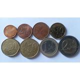 Set De Euros España! 1-2-5-10-20-50 Ctvs Y 1-2 Euros!
