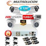 Kit Video Vigilancia Hikvision Turbohd720p 4 Camaras Inc Iva