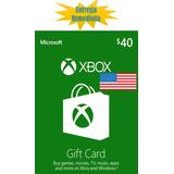Tarjetas De Recarga Xbox Gift Card - Xbox Live $40