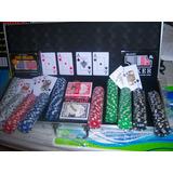 Maletin Poker Profesional 500 Fichas 12 Gr +3 Naipes+5 Dados