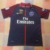 3a249230cab38 Camisetas Paris Saint Germain Psg 2017-2018 Titular Alterna