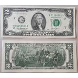 Billetes Mundiales Usa Estados Unidos Dos Dolares 2013 2 D