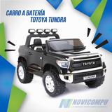 Carro A Batería Totoya Tundra Doble Asiento Con Licencia