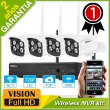 Kit 4 Cámaras Seguridad Alarm Wifi Vigilancia Inalámbrico Ip