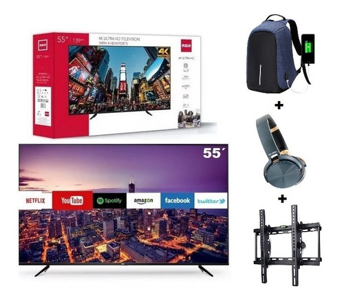 Televisor Smart Tv 55´rca Americano 4k Uhd + Regalos