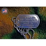 Placas De Identificación Militar Dog Tag Originales