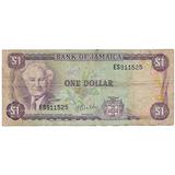 Jamaica, Antiguo Billete Coleccionable De 1 Dolar